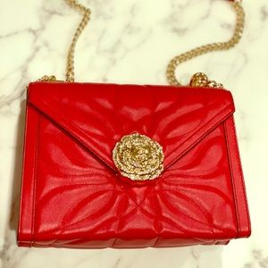 Michael Kors Red Quilted Leather Convertible Bag